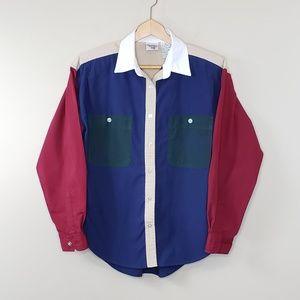 Vintage 90s Huntington Ridge Colorblock Shirt